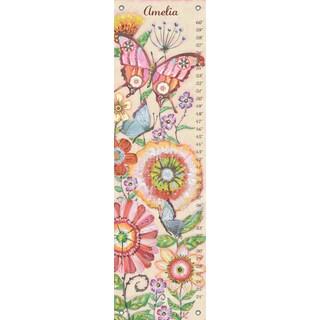 Oopsy Daisy Mariposa Garden Canvas Growth Charts