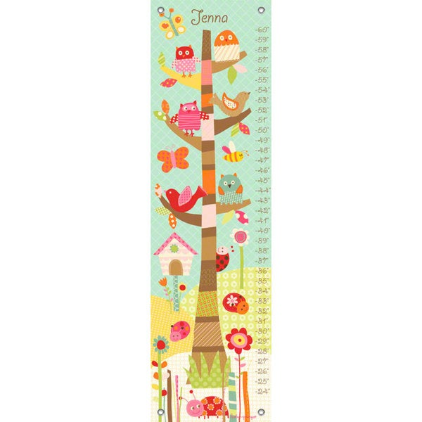 Oopsy Daisy Pretty Tree Canvas Growth Chart