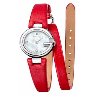 Gucci Guccissima Women's Stainless Steel and Leather YA134508 Watch