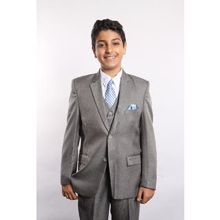 Tazio Boys Grey 5-piece Suit|https://ak1.ostkcdn.com/images/products/14706552/P21237263.jpg?impolicy=medium