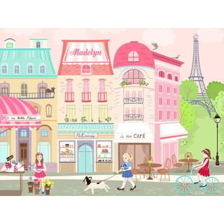 Oopsy Daisy Parisian Afternoon 40 x 30-inch Stretched Canvas Wall Art
