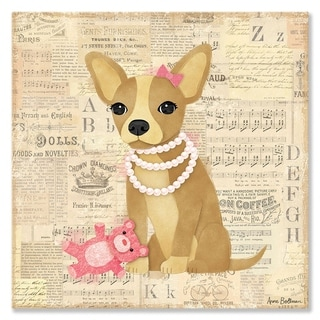 Oopsy daisy 'Chihuahua Girl' 21 x 21-inch Stretched Canvas Wall Art