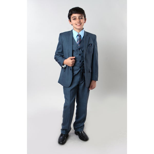 Tazio Boys' 6-piece Sharkskin Suit