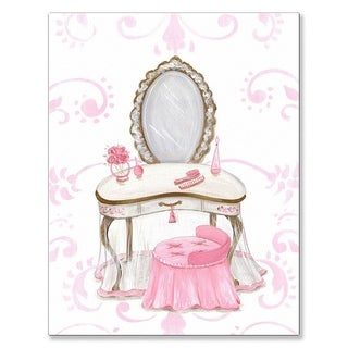 Oopsy Daisy Little Princess Vanity Stretched Canvas Wall Art