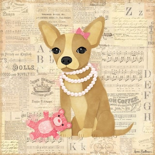 Oopsy daisy 'Chihuahua Girl' 10 x 10-inch Stretched Canvas Wall Art