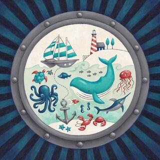 Oopsy Daisy One Great Adventure! Nautical Porthole Canvas Wall Art