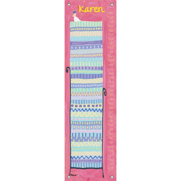 Oopsy Daisy Princess and the Pea Canvas Growth Charts