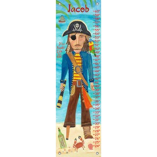 Oopsy Daisy Pirate Canvas Growth Charts