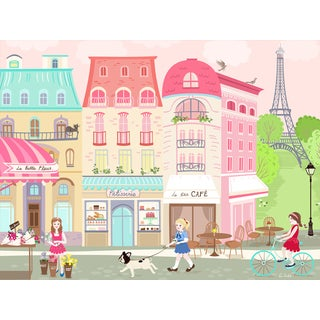 Oopsy Daisy Parisian Afternoon Stretched Canvas Wall Art