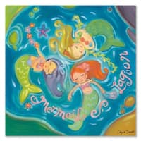 Oopsy Daisy Mermaid Lagoon Stretched Canvas Wall Art