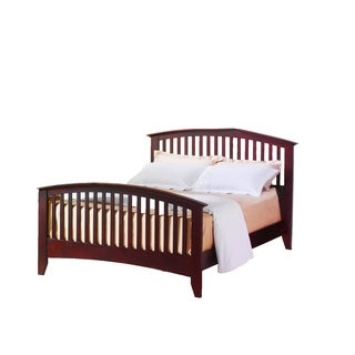 LYKE Home Merlot Finish Bed (4 options available)