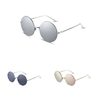 Ivory Oval Flat Lens Gradient Sunglasses