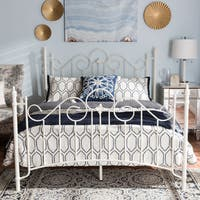 Victorian White Bed by Baxton Studio