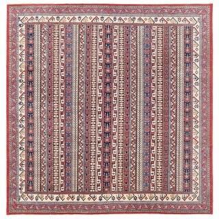 Herat Oriental Afghan Hand-knotted Vegetable Dye Transitional Kazak Wool Rug (11'1 x 11'4)