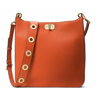 Michael Kors Sullivan Large Orange Messenger Crossbody Handbag