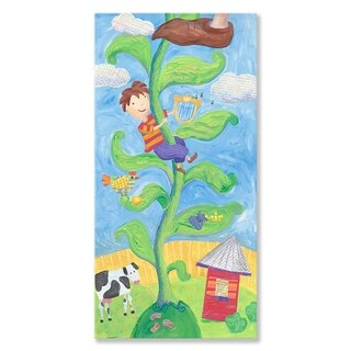 Oopsy daisy 'Jack and the Beanstalk' 24 x 48-inch Stretched Canvas Wall Art