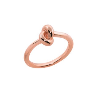 Eternally Haute 14k Rose Goldplated Love Knot Ring - Pink