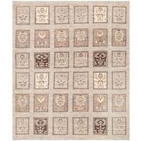 Handmade Herat Oriental Afghan Vegetable Dye Transitional Kazak Wool Rug (Afghanistan) - 8' x 9'6