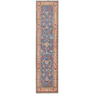 Herat Oriental Afghan Hand-knotted Vegetable Dye Oushak Wool Runner (2'7 x 10'9) - 2'7 x 10'9