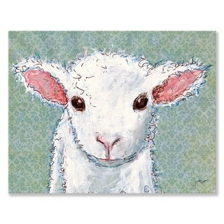 Oopsy Daisy Little Lamb Baby Stretched Canvas Wall Art