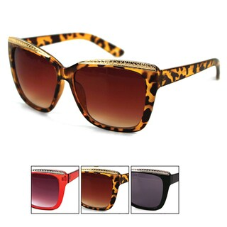 Pop Fashionwear Unisex Oversized Rectangular Squared Cateye Sunglasses
