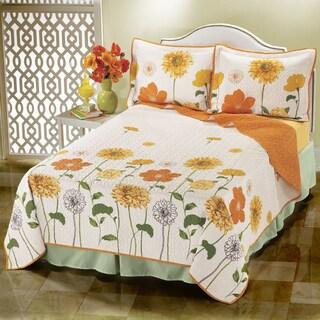 Veranda Sunshine Floral Cotton Quilt
