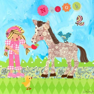 Oopsy Daisy Neigh Goes the Pony Stretched Canvas Wall Art