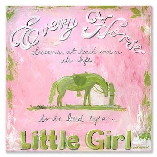 Oopsy daisy 'A Girl and Her Horse' 14 x 14-inch Stretched Canvas Wall Art