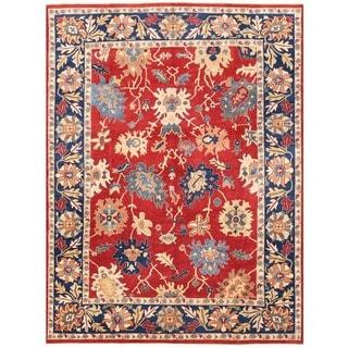 Handmade One-of-a-Kind Vegetable Dye Oushak Wool Rug (Afghanistan) - 8'6 x 11'8