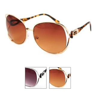 Pop Fashionwear Fashion Diva Metal Frame Butterfly Oversized Sunglasses