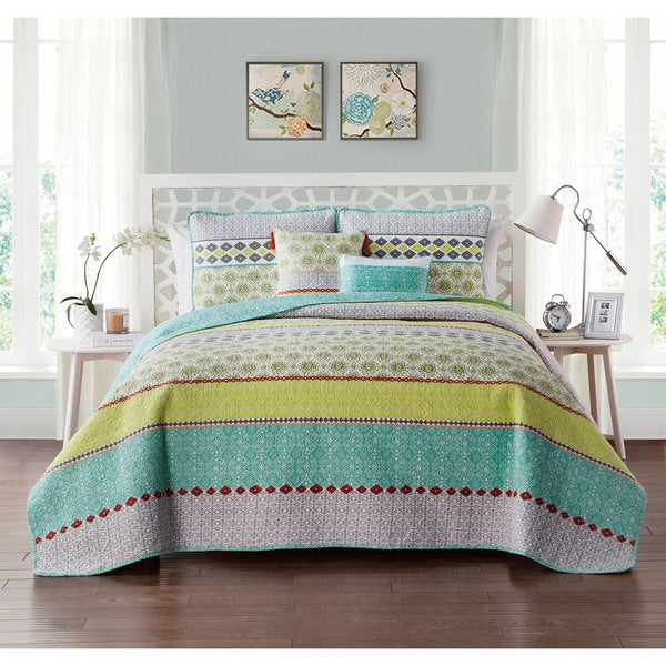 VCNY Home Dharma Reversible 5-piece Quilt Set