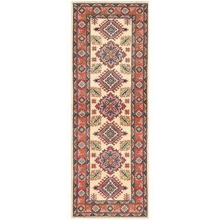 Herat Oriental Afghan Hand-knotted Vegetable Dye Kazak Wool Runner (2'1 x 5'8)