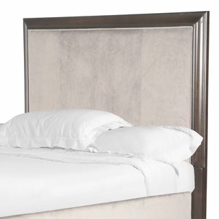 Kennett Square Upholstered Queen Island Bed Headboard in Java