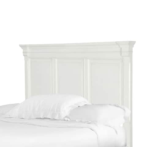 Brookefield Cotton White Queen Panel Headboard