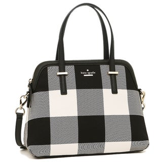 Kate Spade Cedar Street Maise Light Shale Multi Plaid Satchel Handbag