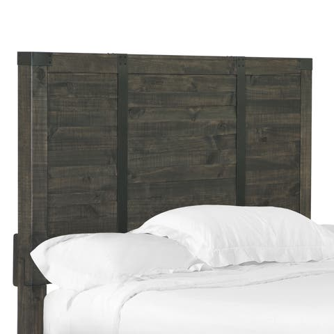 Abington Panel Bed King Headboard in Weathered Charcoal