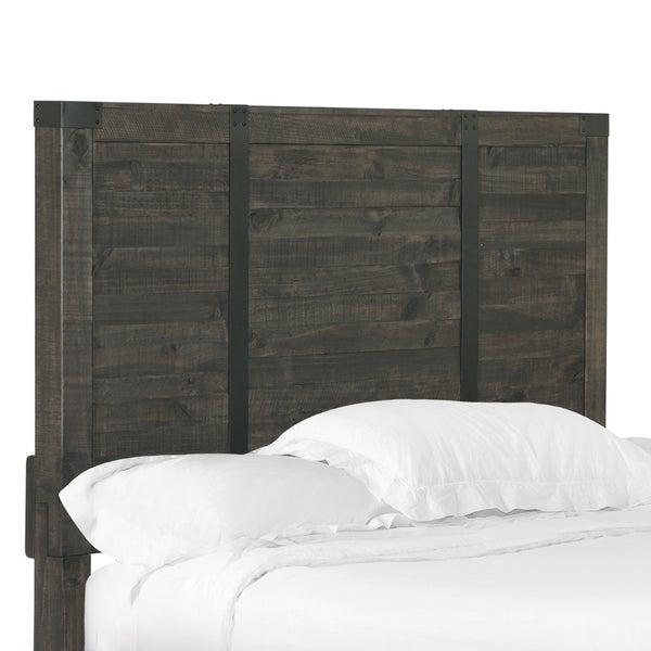Abington Panel Bed Queen Headboard In Weathered Charcoal