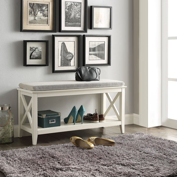 Shop Briarwood Home Decor Wood Cushioned Bench Free Shipping Today Delectable Abf Furniture Decor