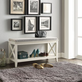 Briarwood Home Decor Wood Cushioned Bench