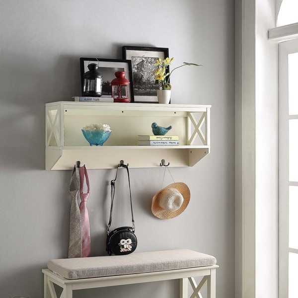 Shop Briarwood Home Decor Wood Wall Shelf With Hangers
