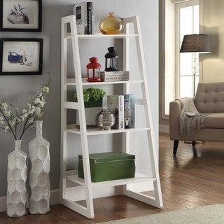 Briarwood Home Decor Wood Ladder Style Bookcase (2 Options Available)