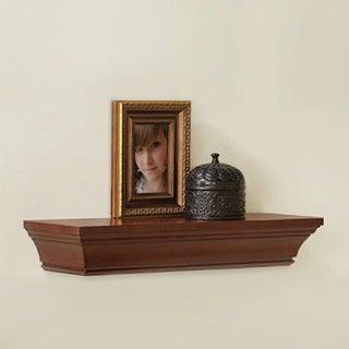 Briarwood Home Decor Dark Walnut Finish Wood Bevelled Wall Shelf