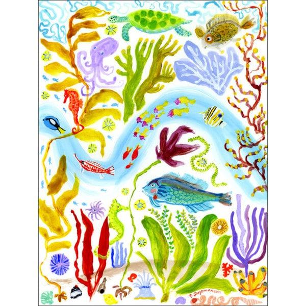 GreenBox Art + Culture 'Octopus Garden' 30 x 40-inch Stretched Canvas Wall Art
