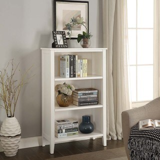 Briarwood Home Decor White Finish Wood Bookcase