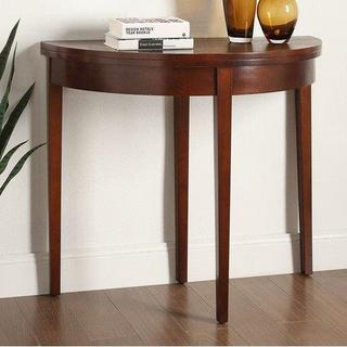 Dark Walnut Wooden Folding Console Table