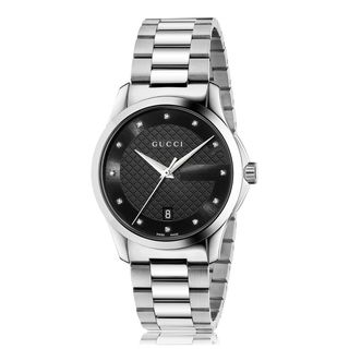 Gucci Unisex YA126456 'G-Timeless' Diamond Stainless Steel Watch