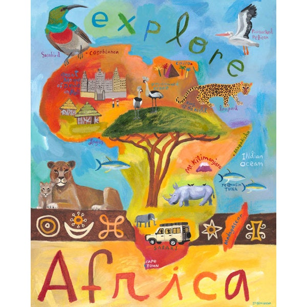 Oopsy daisy 'Explore Africa' 24 x 30-inch Stretched Canvas Wall Art