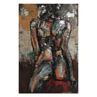 """Nude Study 1"" Mixed Media Iron Hand Painted Dimensional Wall Décor"