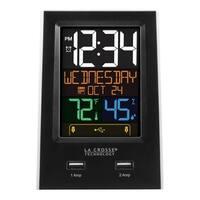 La Crosse C86224-1 Desktop Dual USB Charging Station with Alarm & Nap timer
