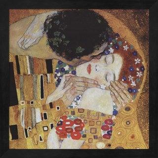 Gustav Klimt 'The Kiss (detail)' Framed Art